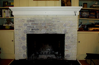 Tracy's fireplace before